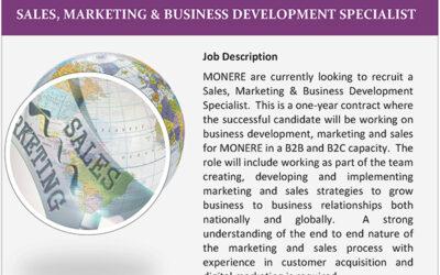 Sales and Marketing Vacancy